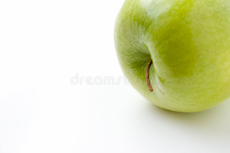 Apple on side stock images