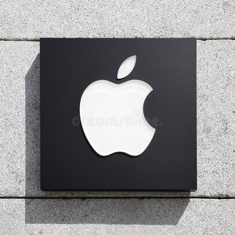 Apple sign royalty free stock photos