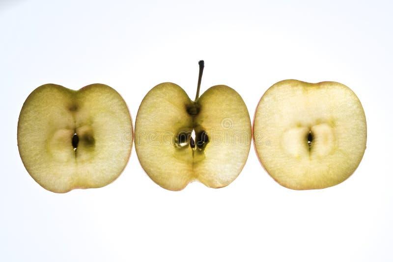 Apple slices stock image