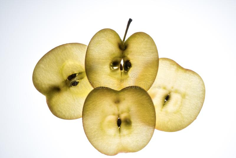 Apple slices stock photography