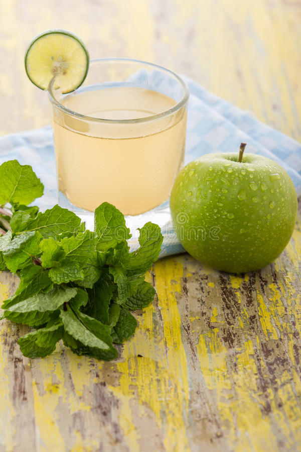 Apple Smoothies. The healthy smoothies juicy apple to make your day royalty free stock photo
