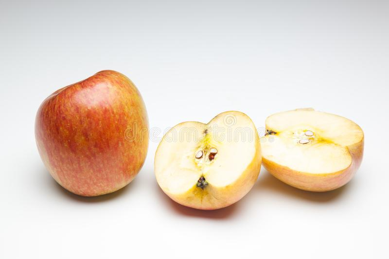 Apple som är rik i anstrykning och vitaminer royaltyfri fotografi