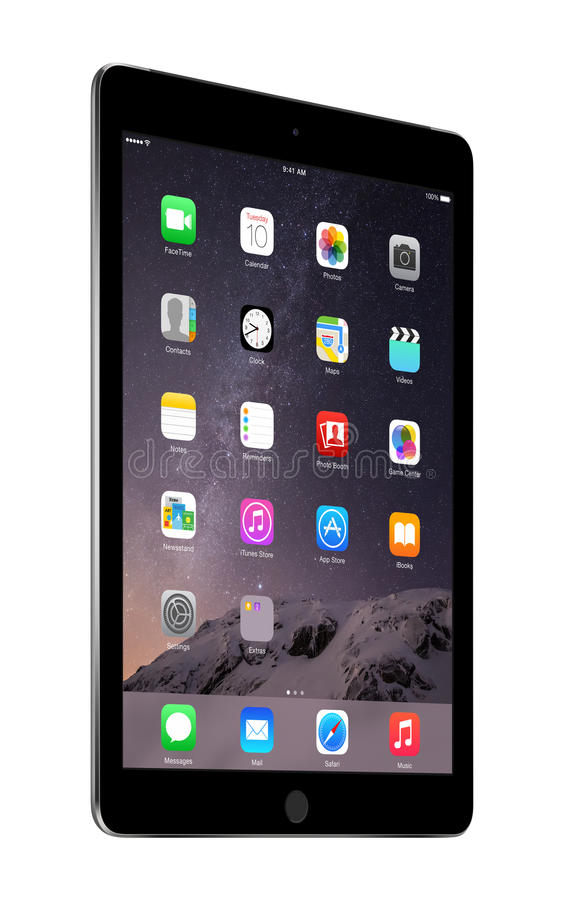 Free Apple Space Gray IPad Air 2 With IOS 8, Designed By Apple Inc. Royalty Free Stock Image - 50558796