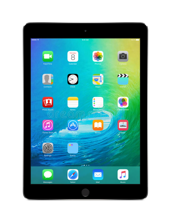 Free Apple Space Gray IPad Air 2 With IOS 9, Designed By Apple Inc. Royalty Free Stock Photography - 56944357