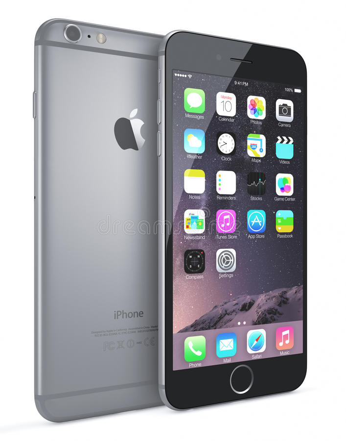 Free Apple Space Gray IPhone 6 Plus Royalty Free Stock Photography - 44828437