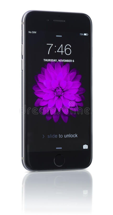 Apple Space Gray iPhone 6 stock image