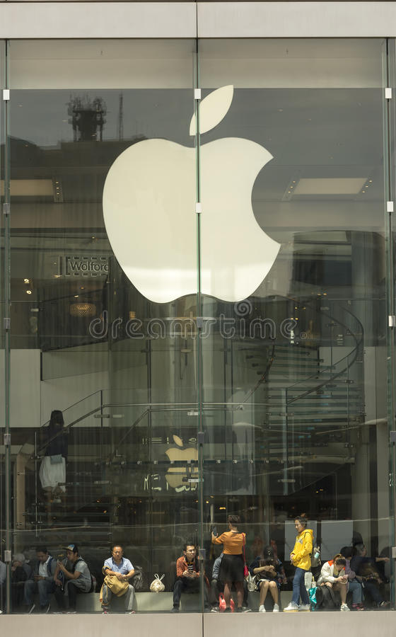 Apple-Speicher in Hong Kong lizenzfreies stockbild