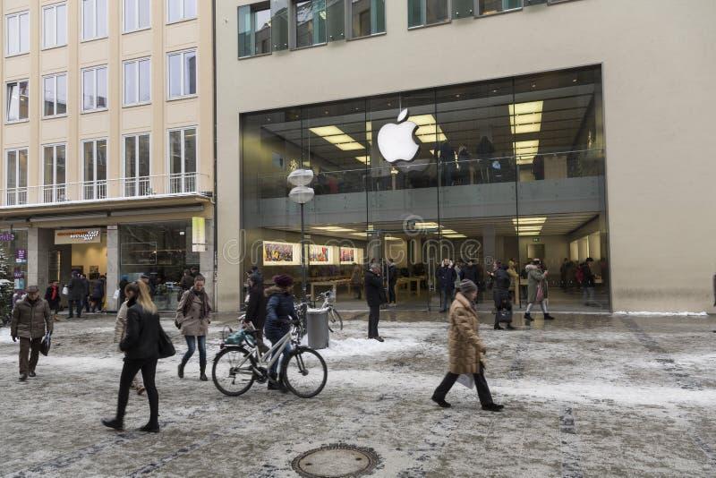 Apple-Speicher in München lizenzfreies stockbild