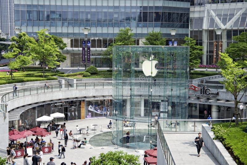 Apple speichern in Shanghai, China stockfotos