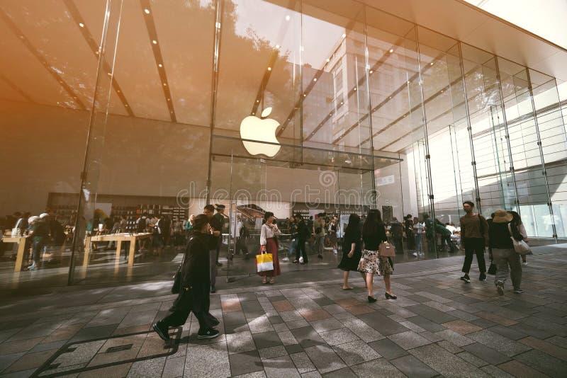 Apple speichern in Tokyo lizenzfreie stockbilder