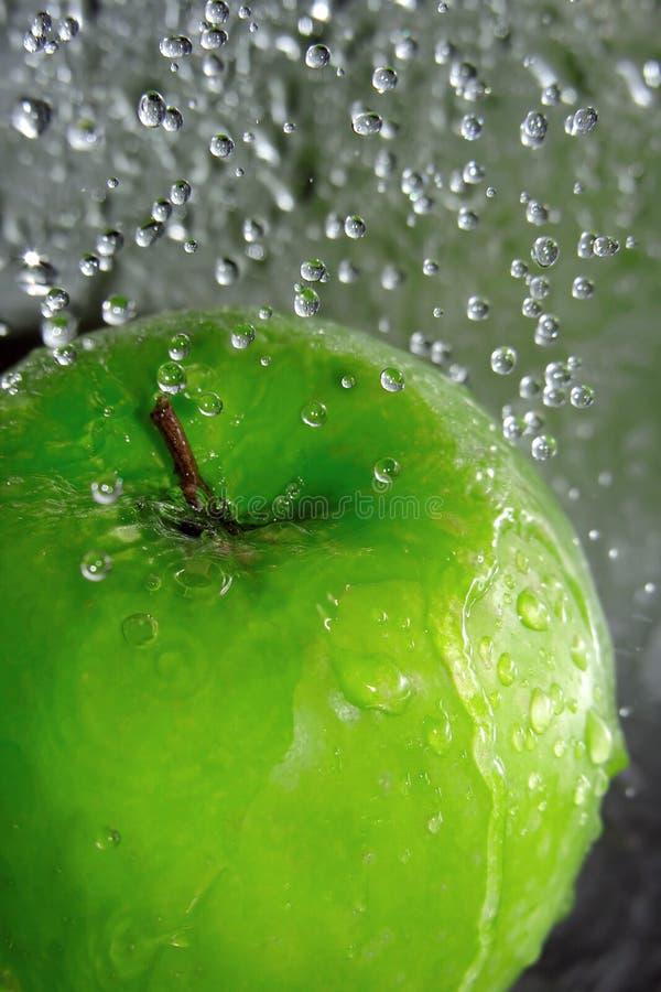 Download Apple splash stock photo. Image of wash, blue, bubble - 3590606