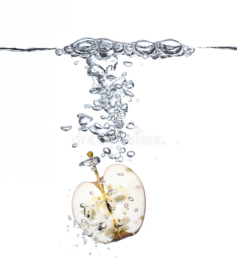 Free Apple Splash In Water Stock Image - 6801661