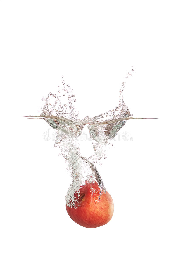 Free Apple Splash Into Water Stock Photography - 3422082