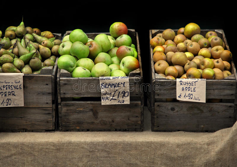 Download Apple stand stock photo. Image of organic, wooden, basket - 27184836