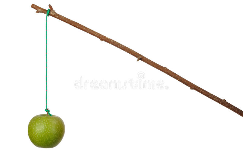 Apple and Stick royalty free stock images