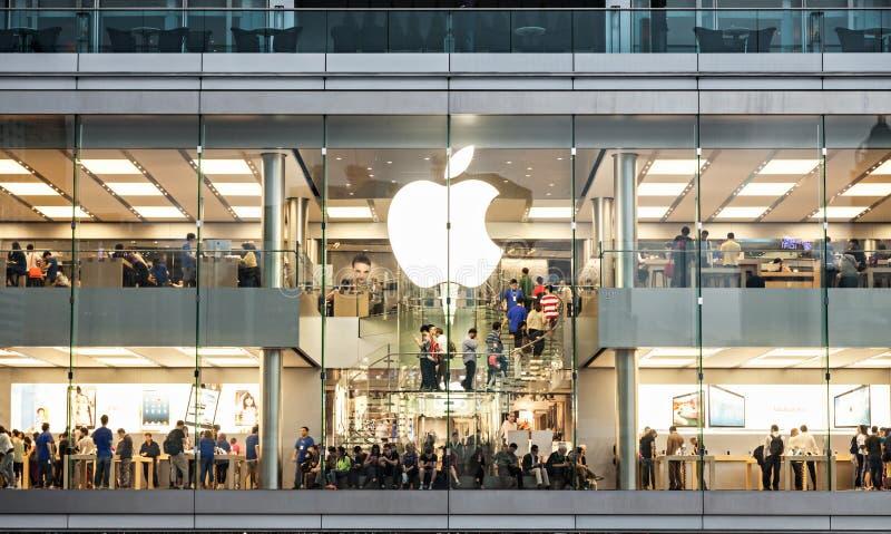 Apple Store fotografie stock libere da diritti