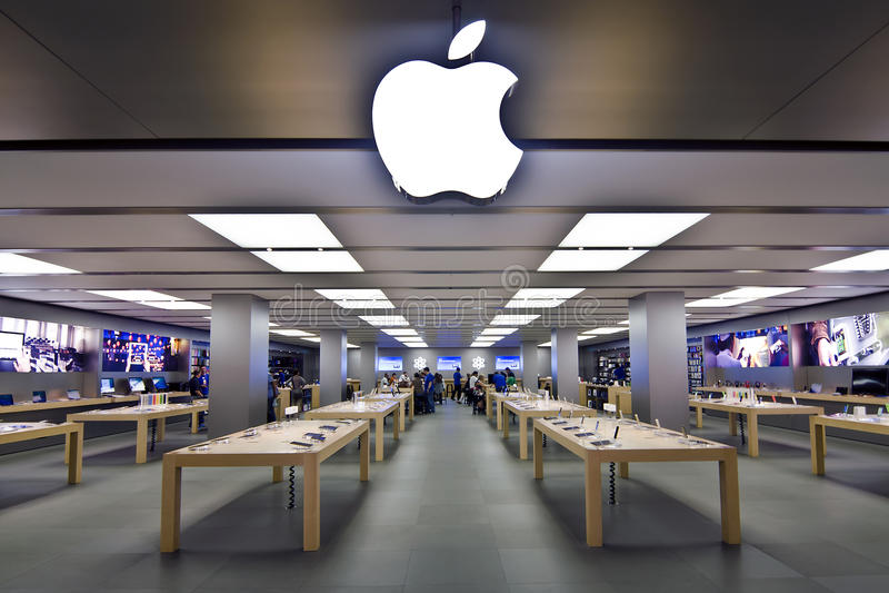 Apple Store fotos de stock royalty free