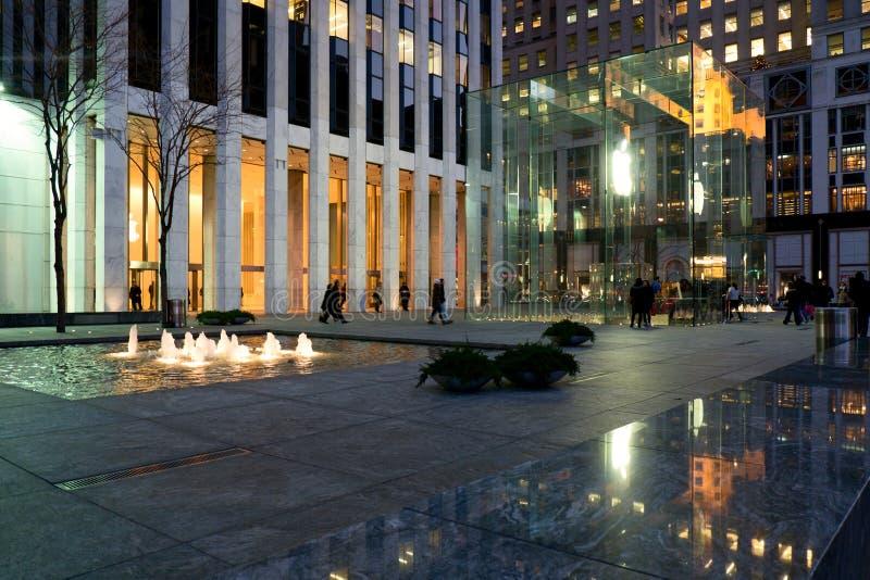 Apple Store al quinto viale in New York fotografia stock libera da diritti