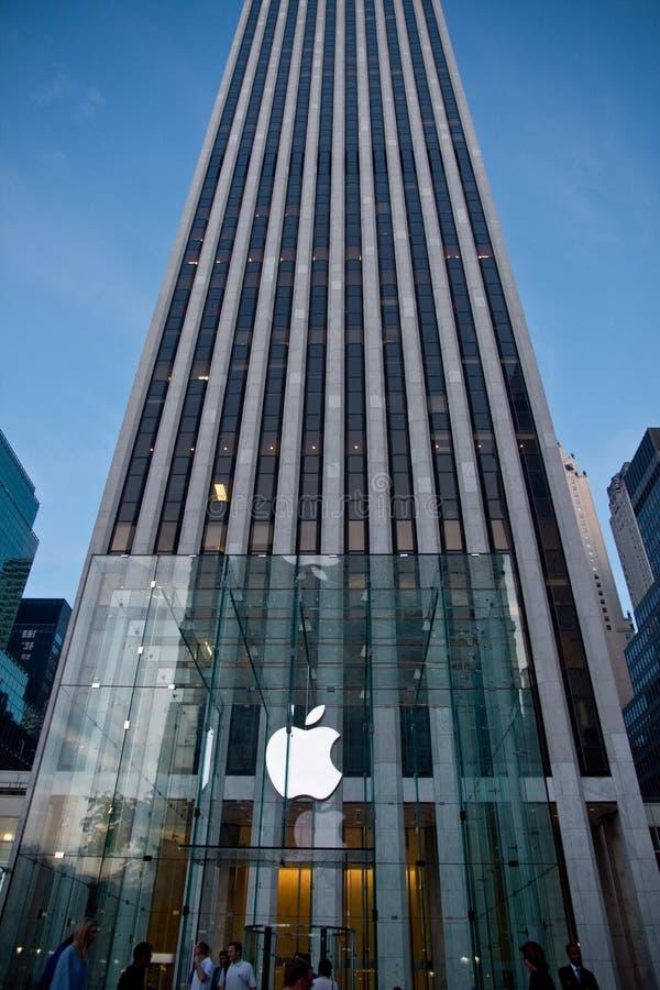 Apple Store alla Quinta Avenue fotografia stock libera da diritti