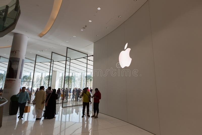 Apple Store in Dubai Mall, United Arab Emirates stock image