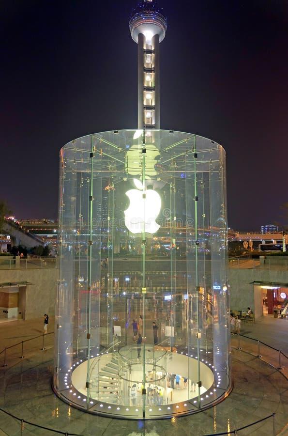 Apple Store em Shanghai imagem de stock royalty free