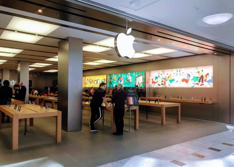 Apple Store en Londres foto de archivo libre de regalías