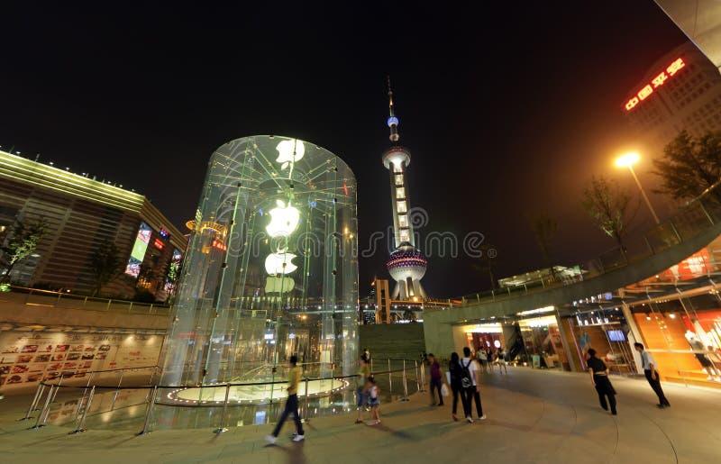 Apple Store en Shangai imagen de archivo libre de regalías