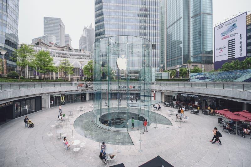 Apple Store en Shangai, China foto de archivo