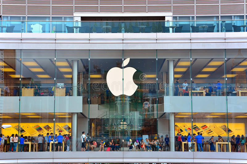 The Apple Store In Hong Kong Editorial Stock Photo