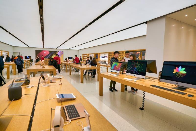 Apple store a Hong Kong fotografia stock
