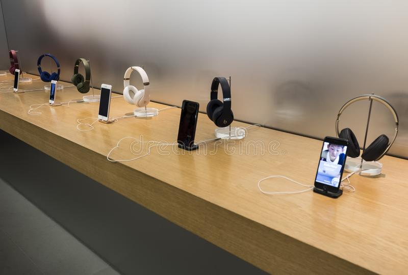 Apple store in Hong Kong. stock photos