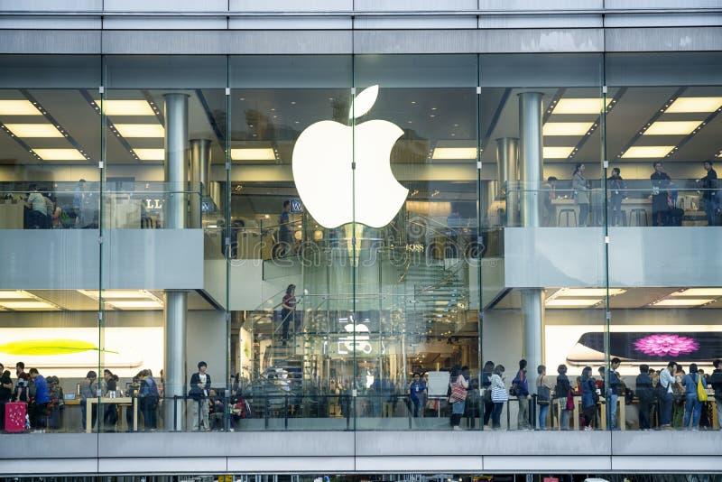 Apple Store, Hong Kong stock photography