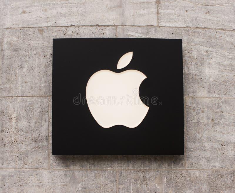 Apple Store logo fotografia royalty free