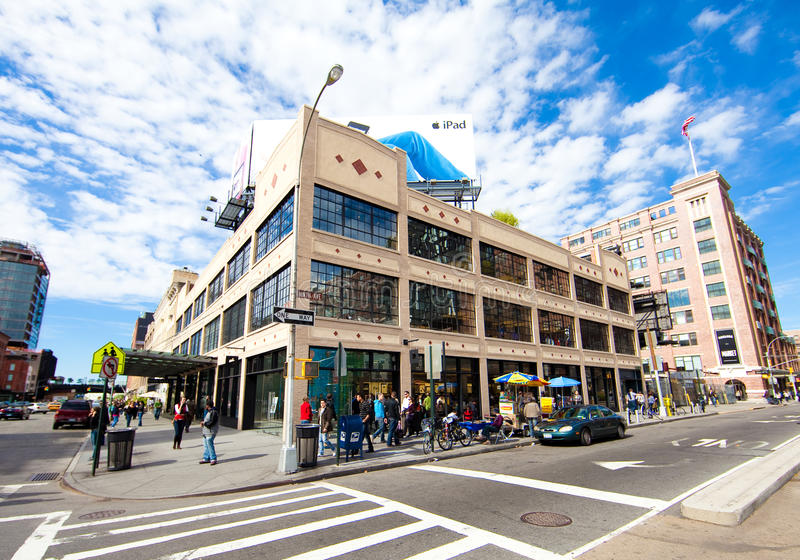 Download Apple Store In Meatpacking District Of New York Editorial Stock Image - Image: 16323144