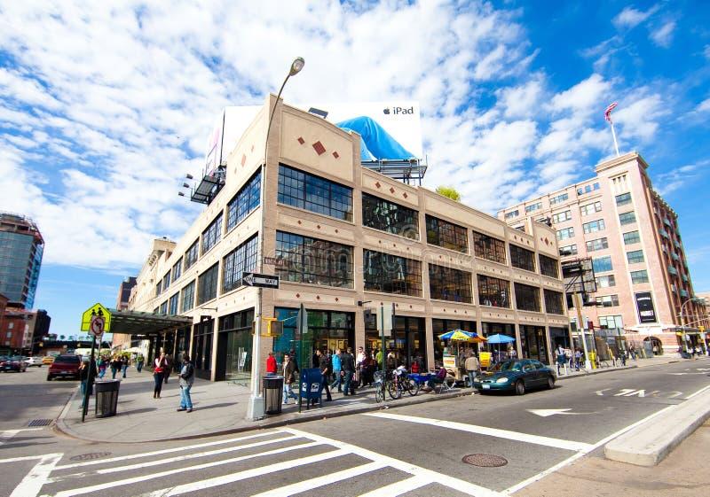 Apple Store nel distretto di imballaggio della carne di New York immagini stock