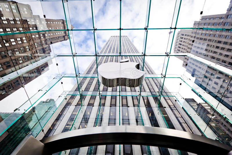 Apple Store in New York stock afbeeldingen