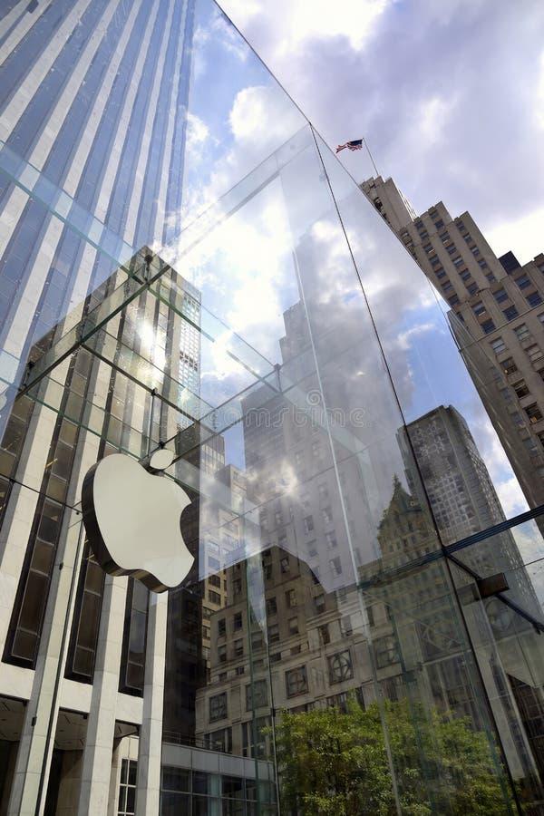 Apple Store a New York City immagine stock libera da diritti