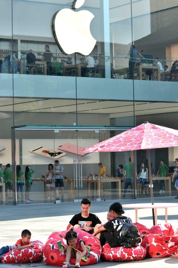 Apple Store op Chunxi-Road royalty-vrije stock fotografie