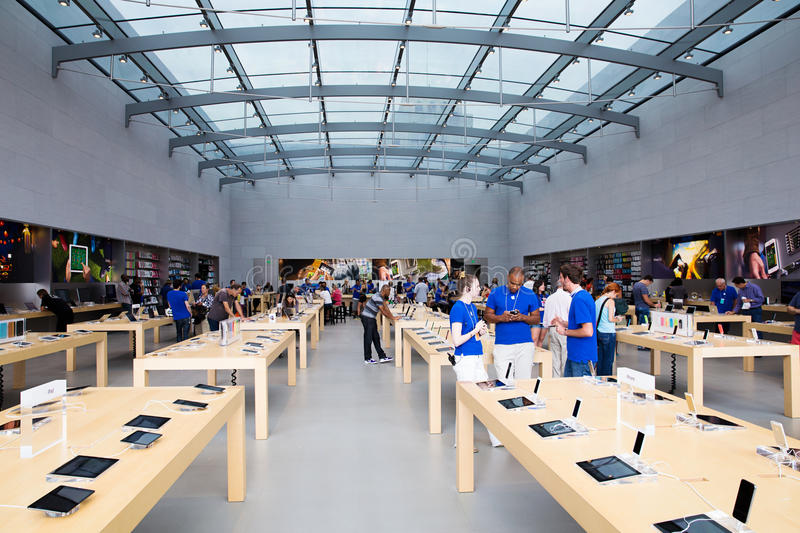 Apple store stock photography