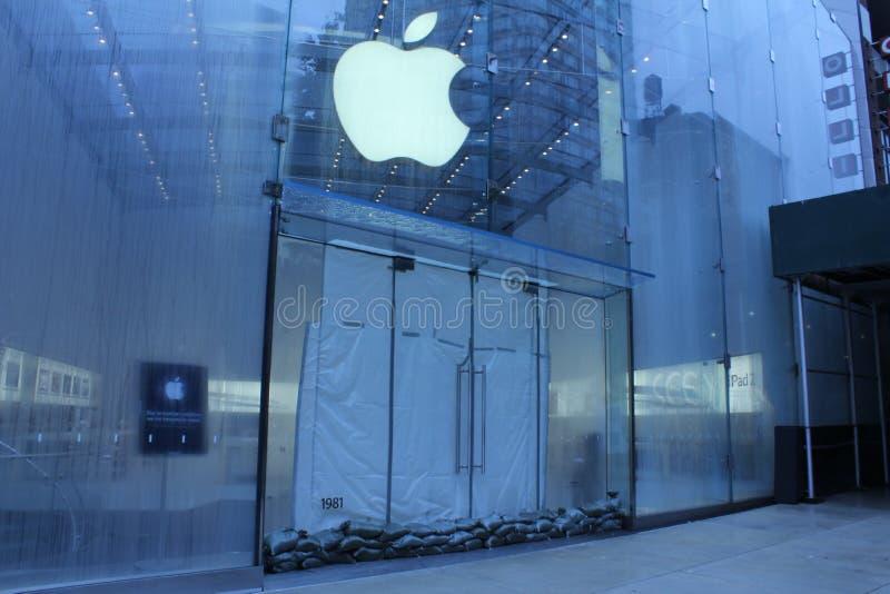 Apple Store si è chiuso fotografia stock libera da diritti