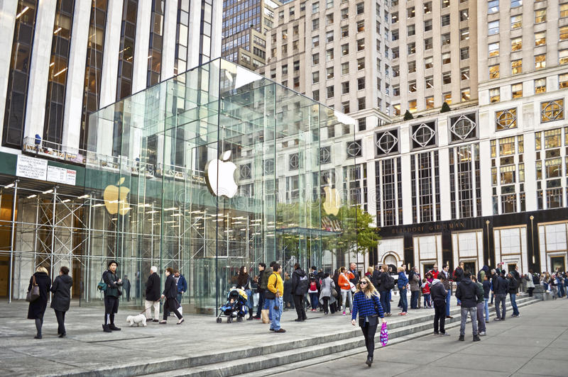 Apple Store 5th Ave royalty free stock image