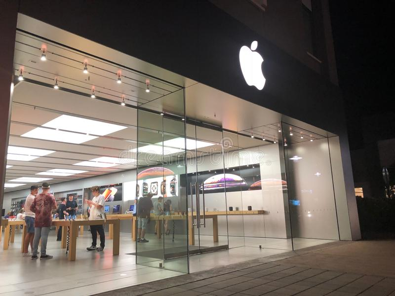 Apple Store wejście fotografia stock
