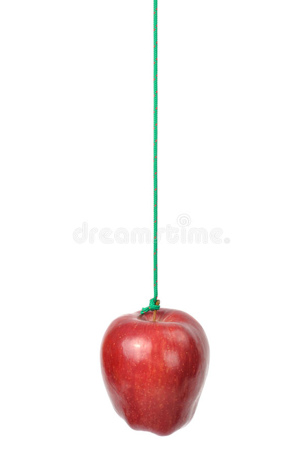 Apple on a String stock photography