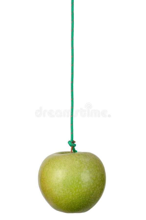 Download Apple on a String stock photo. Image of white, diet, motivation - 16153600