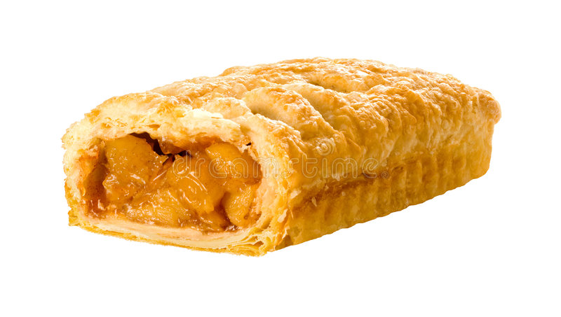 Apple Strudel. A photo of apple strudel isolated on a white background. Isolation is on a transparent layer in the PNG format royalty free stock images