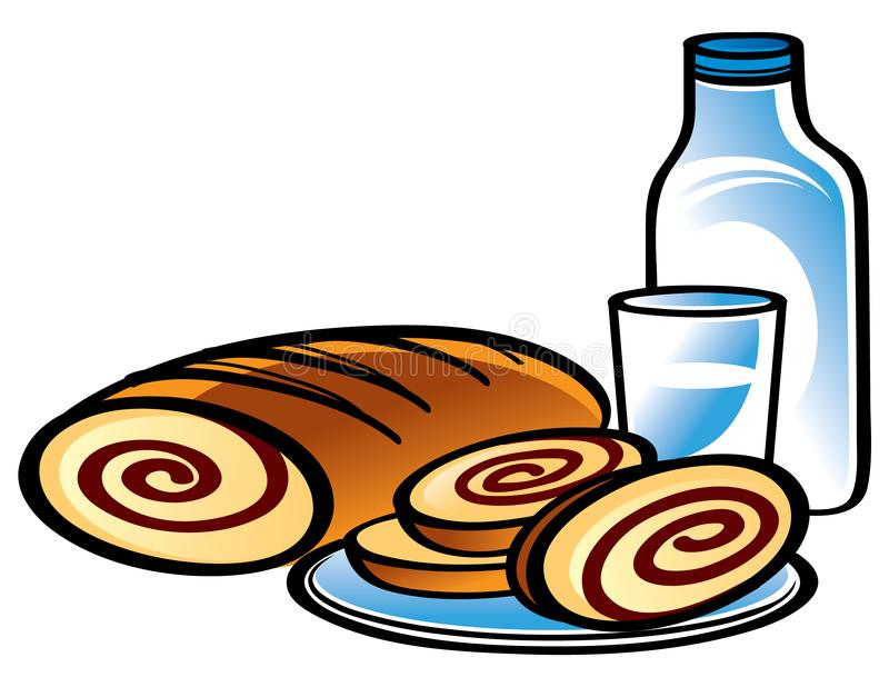 Download Apple Strudel and Milk stock vector. Illustration of appetite - 8803402