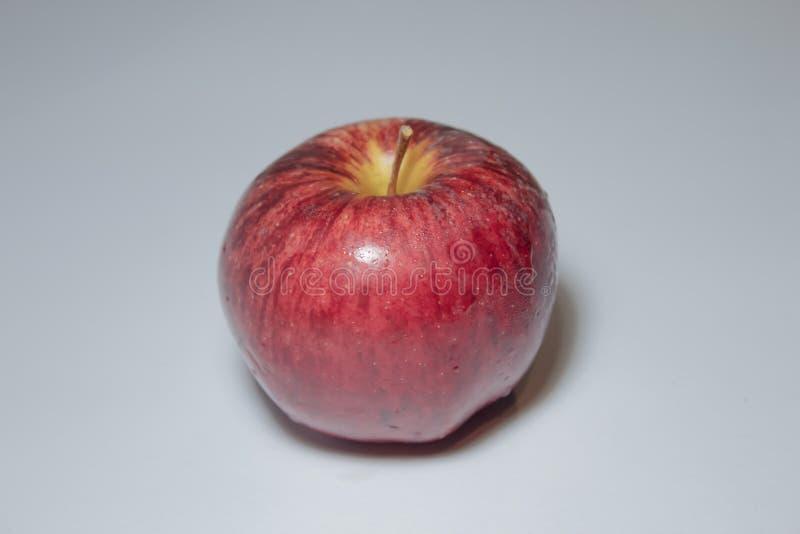 Apple su priorità bassa bianca immagine stock