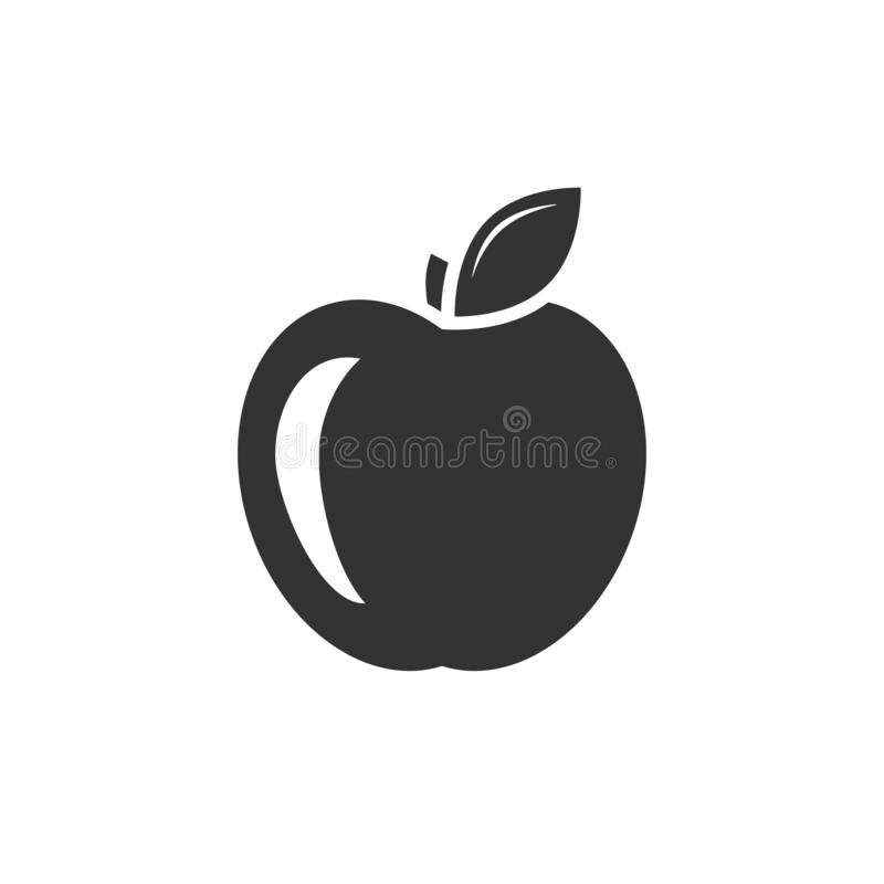 Apple svartsymbol vektor illustrationer