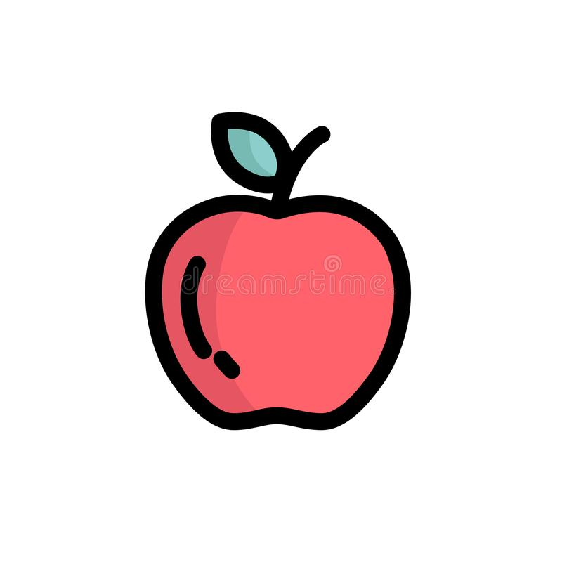 Apple symbol för vektor stock illustrationer