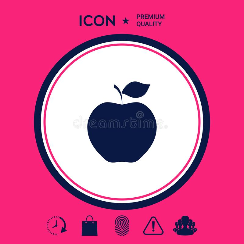 Apple symbolssymbol royaltyfri illustrationer